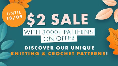 $2 Sale Knitting & Crochet patterns