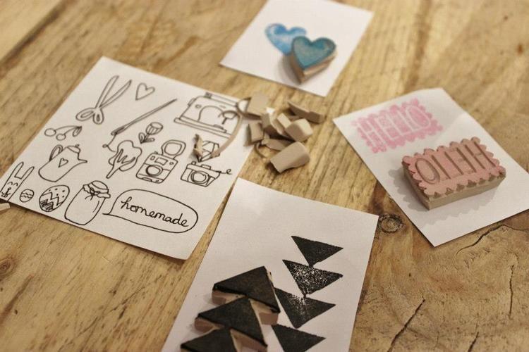Makerist - Stempel aus Radiergummis - DIY-Projekte - 1