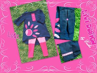 Lulla Tunika / Kleid Set mit Legging