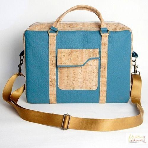 Makerist - Design Award Kork: Laptoptasche aus Korkstoff - Nähprojekte - 1