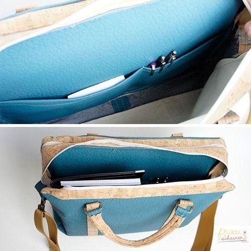 Makerist - Design Award Kork: Laptoptasche aus Korkstoff - Nähprojekte - 3