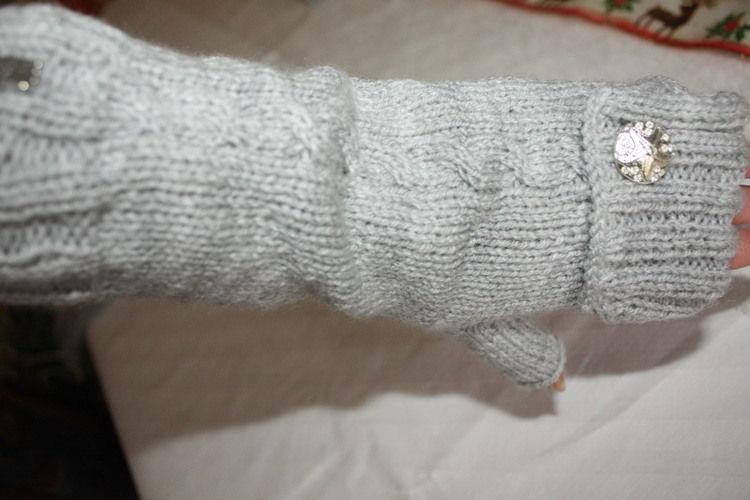 Makerist -  aus zwei mach eins... Armstulpen.... als Wichtelgeschenk - Strickprojekte - 1