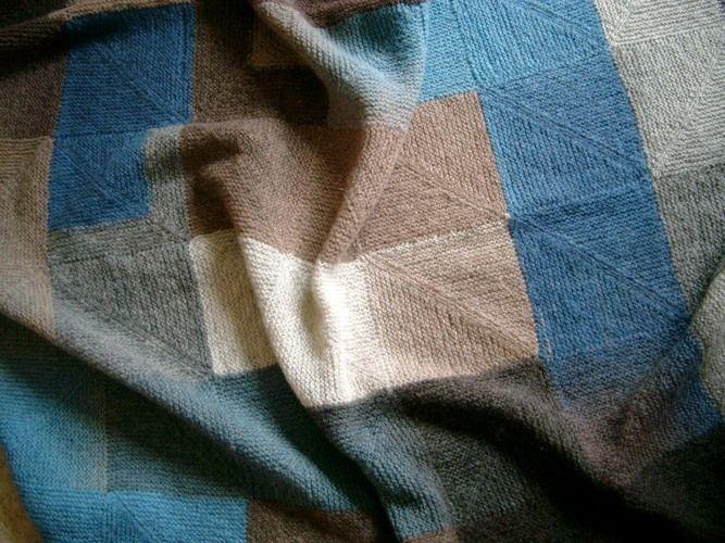 Makerist - Decke aus Topflappenquadraten - Strickprojekte - 1