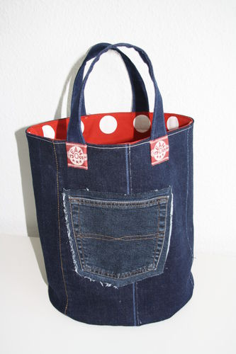 Makerist - XL Strickkorb aus Jeans - Nähprojekte - 1