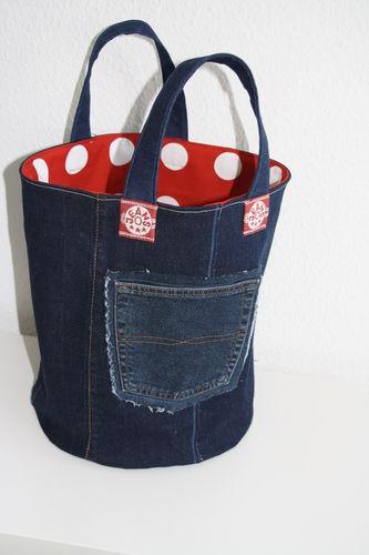 Makerist - XL Strickkorb aus Jeans - Nähprojekte - 2