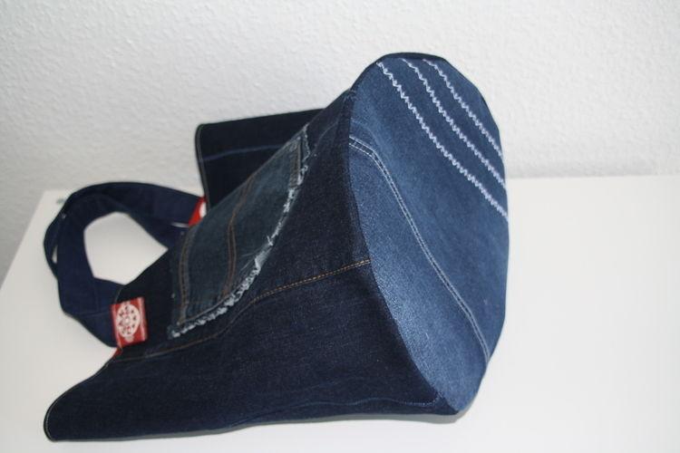Makerist - XL Strickkorb aus Jeans - Nähprojekte - 3