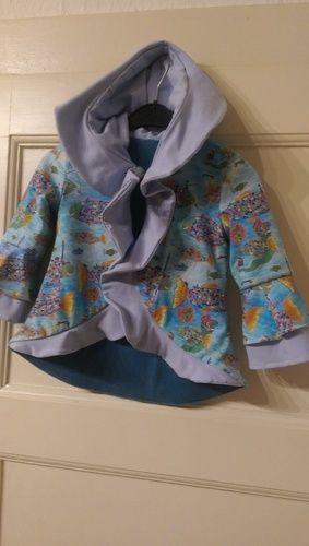 Makerist - Übergangsjacke für meine Enkelin aus Jersey mit Fleecefutter - Nähprojekte - 1