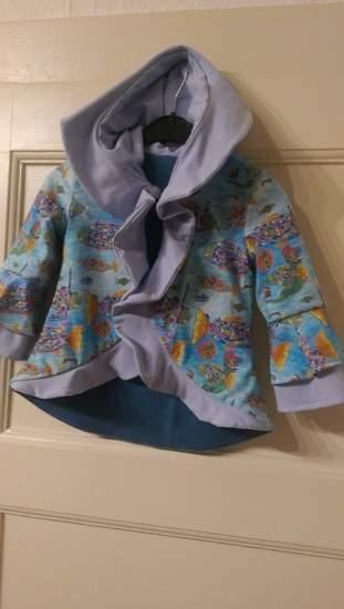 Übergangsjacke für meine Enkelin aus Jersey mit Fleecefutter