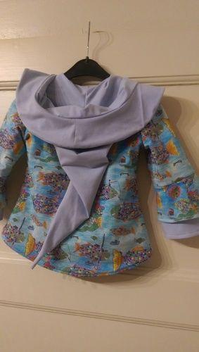 Makerist - Übergangsjacke für meine Enkelin aus Jersey mit Fleecefutter - Nähprojekte - 2