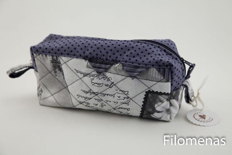 Makerist - kleine Kulturtasche aus der London Serie - Nähprojekte - 1