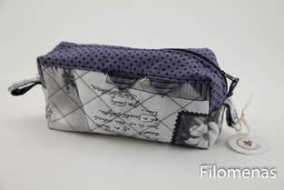 Makerist - kleine Kulturtasche aus der London Serie - 1