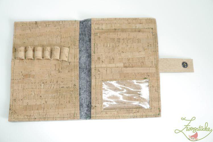Makerist - Design Award Kork - Zentanglekladde to go - Nähprojekte - 2