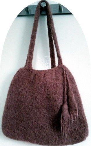 Makerist - Sac à main en laine feutrée - Créations de tricot - 1