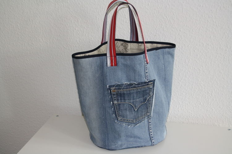 Makerist - XL Jeanstasche - Nähprojekte - 1