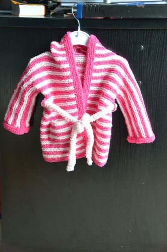 Makerist - Baby-Bademantel für mein Enkelkind - Strickprojekte - 1