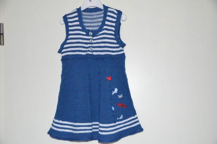 Makerist - Sommerkleid für kleine Matrosinnen - Strickprojekte - 1