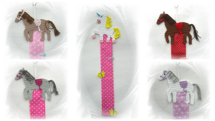 Makerist - Pferde-Haarspangenhalter - Häkelprojekte - 2