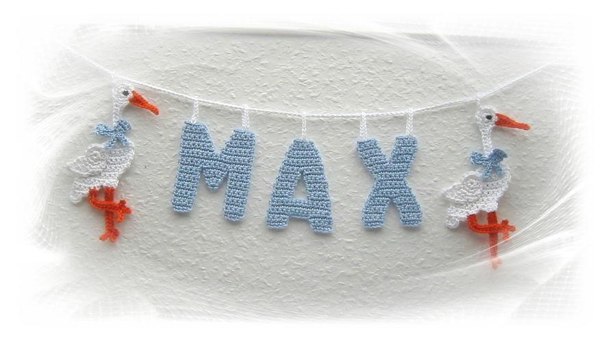 Makerist - Girlande mit Namen fürs Kinderzimmer - Häkelprojekte - 1