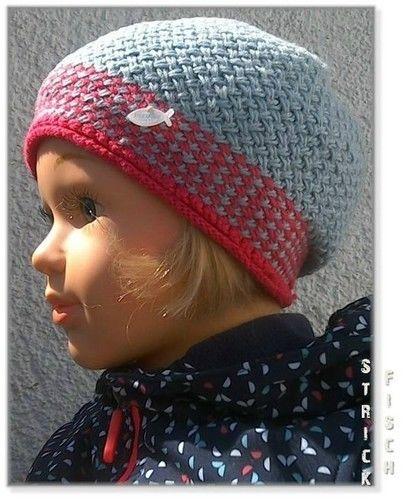 Makerist - Kinder Flechtmuster Mütze zweifarbig - Strickprojekte - 1