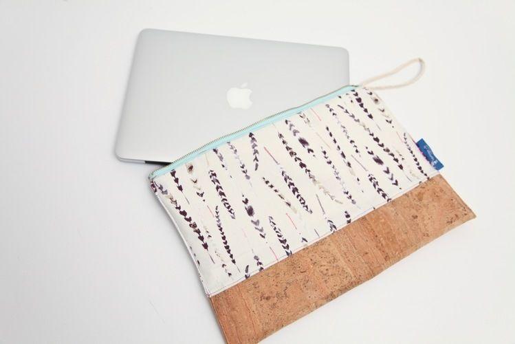 Makerist - Macbook Tasche aus Kork für Mieze und mich :) - DIY-Projekte - 2