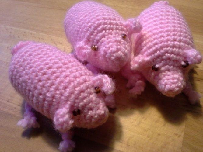 Makerist - Drei kleine Schweinchen - Häkelprojekte - 1