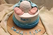 Makerist - babyshower cake für amar - 1