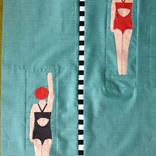 Makerist - Die Schwimmerin - Endlich fertig :) - Patchwork-Projekte - 1