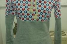 Makerist - Hoodie mit Kragen bestehend aus Jersey, Sweatstoff u Bündchenstoff für mich genäht - 1