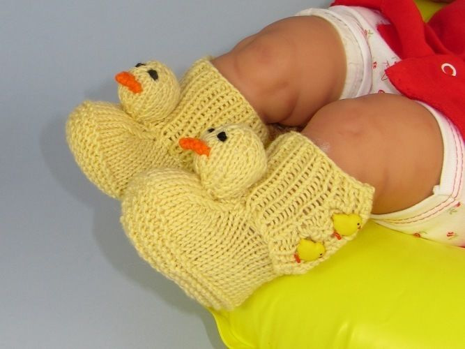 Makerist - Baby Chick Boots - Knitting Showcase - 1