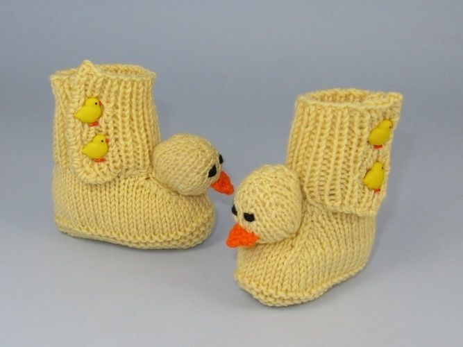 Makerist - Baby Chick Boots - Knitting Showcase - 3