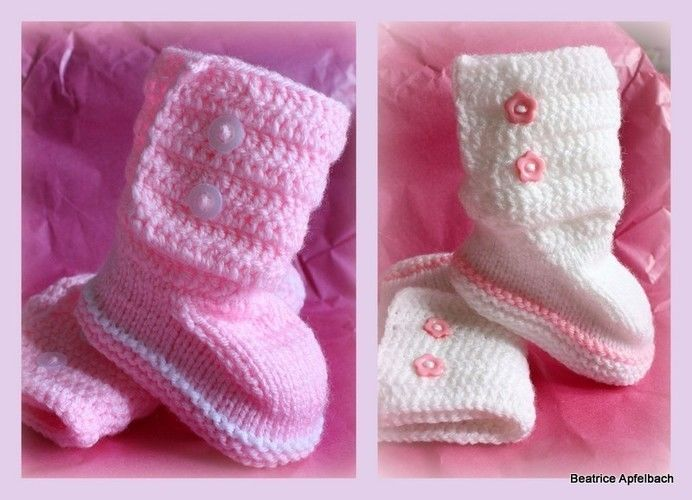 "Makerist - Bootie ""Girl"" - Strickprojekte - 1"
