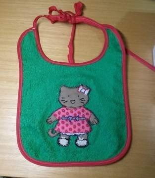 Makerist - Malen mit der Nähmaschine Katzi auf das Lätzchen. - 1