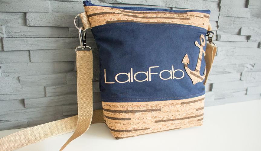 Makerist - Design Award Kork: maritime LalaFab-Tasche - Nähprojekte - 1