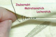Makerist - Zaubernaht - unsichtbare Naht / Matratzenstich / Leiterstich  - 1