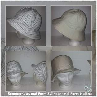 """Makerist - Sommerhut Modell """"Zylinder"""" und Melone"""" - 1"""