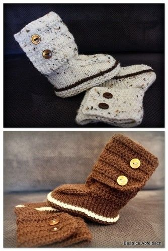 "Makerist - Babybotties ""Boy"" - Strickprojekte - 1"