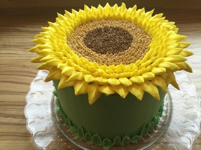 Makerist - Sunflower Cake - Torten, Cake Pops und Cupcakes - 1