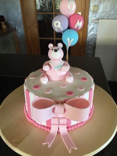 Makerist - Tauftorte für Romy - Torten, Cake Pops und Cupcakes - 1