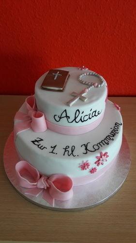 Makerist - Kommunion-Torte  - Torten, Cake Pops und Cupcakes - 1