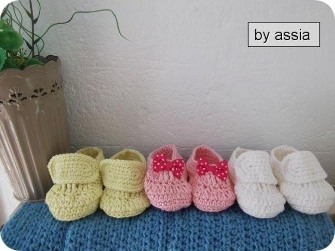 Makerist - Chaussure Chaussons bébé au crochet - Créations de crochet - 1