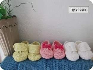 Makerist - Chaussure Chaussons bébé au crochet - 1