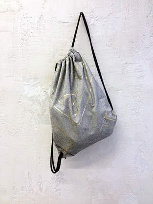 Makerist - metallic foil // gym bag - 1