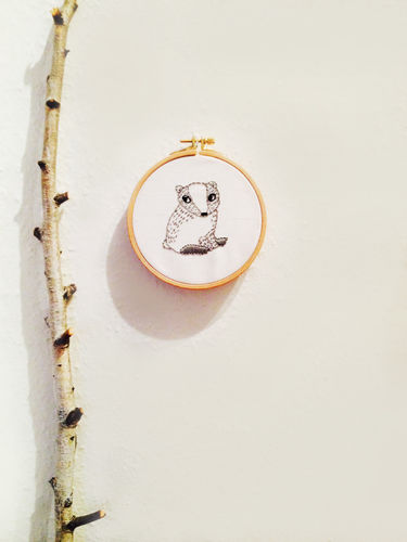 Makerist - embroidery // badger - DIY Showcase - 1