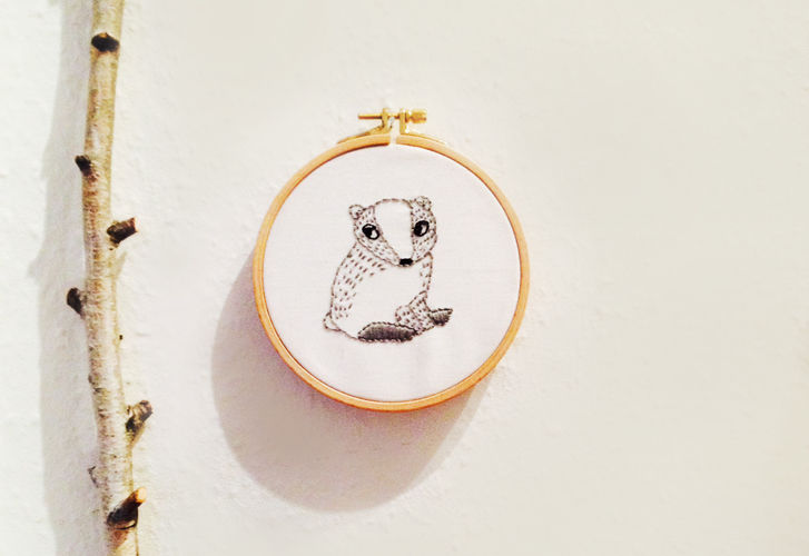 Makerist - embroidery // badger - DIY Showcase - 2