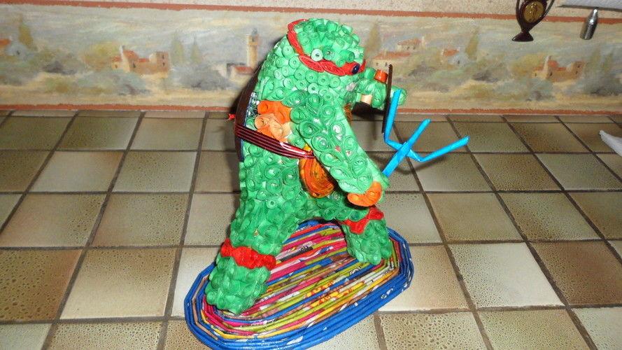 Makerist - Vannerie Tortue Nidja en Quilling - Paperolle - Autres créations - 2
