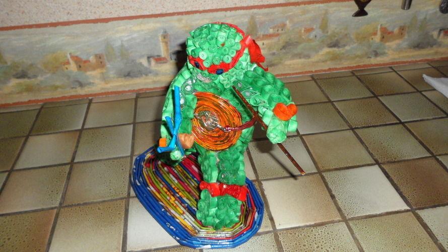 Makerist - Vannerie Tortue Nidja en Quilling - Paperolle - Autres créations - 3