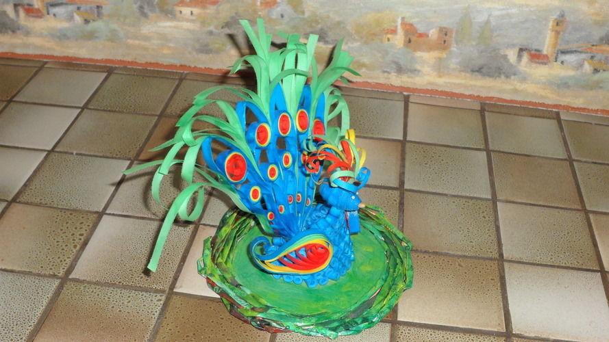 Makerist - Vannerie (socle) Paon en Quilling - Paperolle - Autres créations - 1