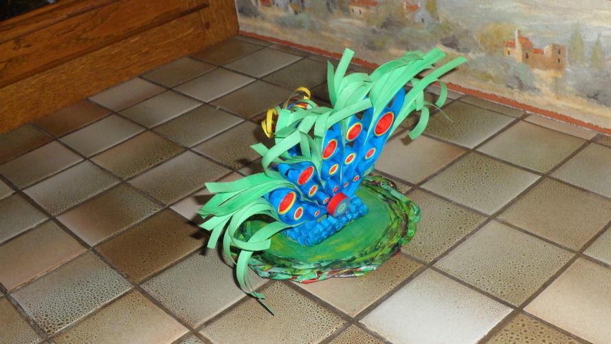 Makerist - Vannerie (socle) Paon en Quilling - Paperolle - Autres créations - 3