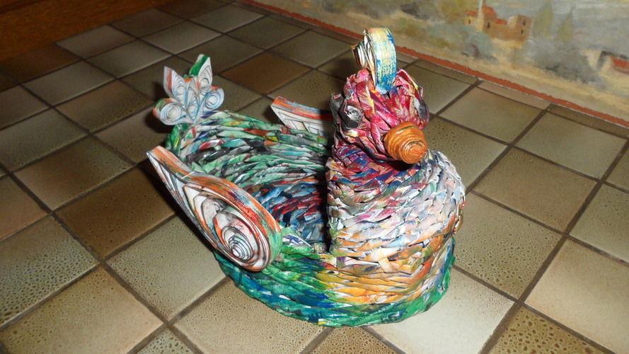 Makerist - Vannerie Canard en Rotin (Papier journal) - Autres créations - 1