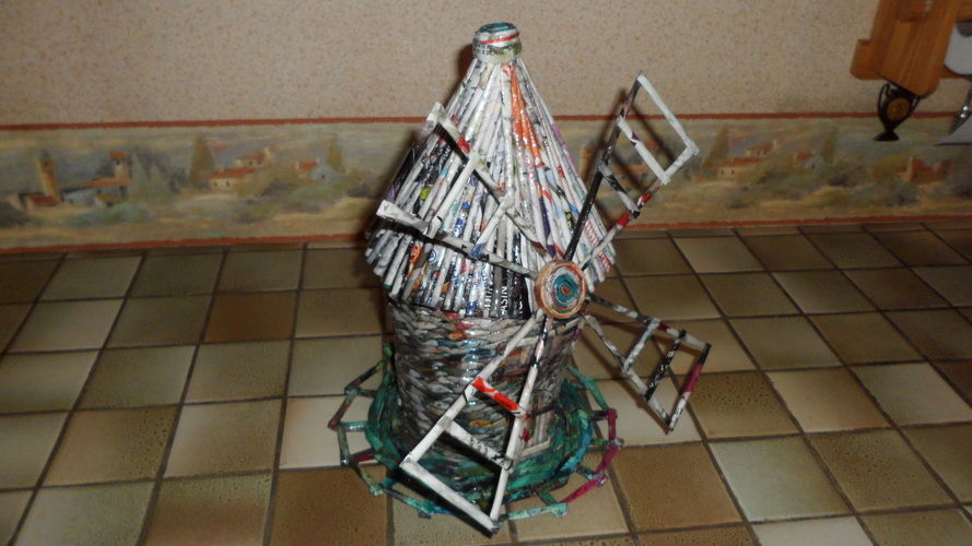 Makerist - Vannerie Moulin en rotin (papier journal) - Autres créations - 2
